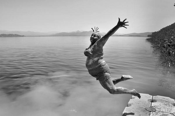 Çamur banyosu.. Fotoğraf Alpay Erdem'den