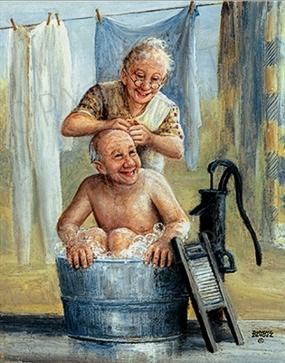 mutlu kocası, kocasını bıcı bıcı ettiren mutlu karısı