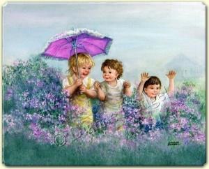 çocuklar çiçektir, çiçekler çocuk gibidir