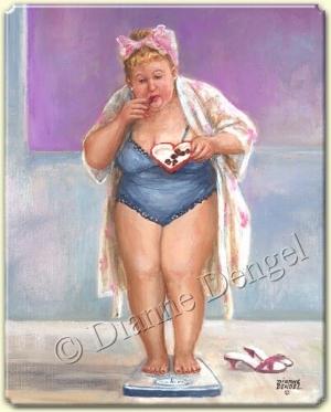 kilosu ile barış içerisinde olan bir kadın