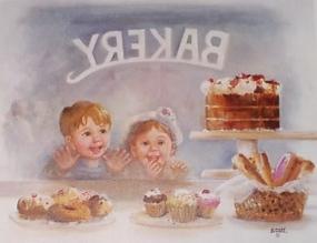 şu pastalara da bak! diyen cam güzelleri
