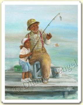 ilk balığını tutan mutlu çocuk