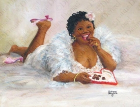 çikolata yiyen çikolata renkli kadın