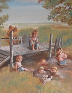 çocukların su keyfi