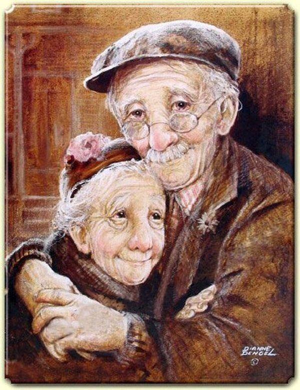 Birlikte yaşlanmışlar
