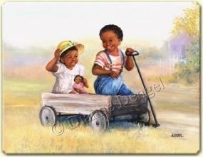 erkek araba ile oynar, kız bebekle oynar
