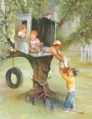 çocuklar ağaçtan evlerine taşınıyor