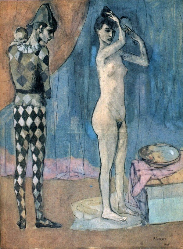 Pablo Picasso - The Harlequin-s Family, 1905, gouache