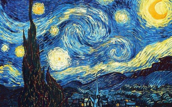 yıldızlı gökyüzü tablosu