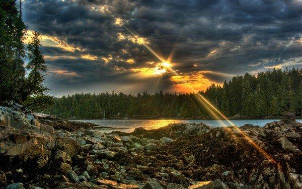 güneş, bulutlar arkasında