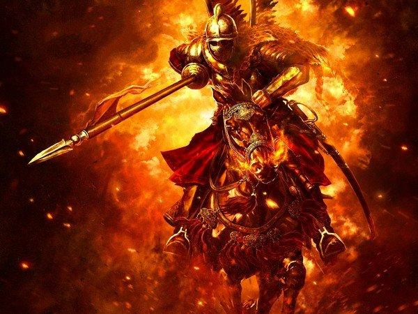 savaş atı ve savaşçı