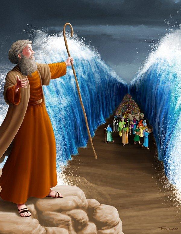 Hz. Musa'nın denizi ikiye ayırması