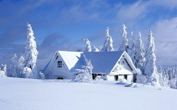 karlar altında ev