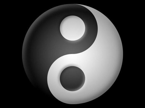 ying yang, karanlık aydınlık döngüsü