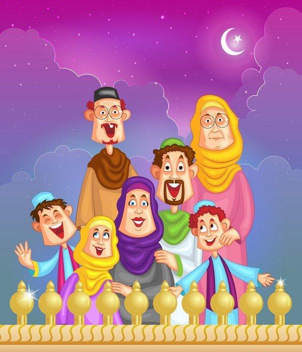 müslüman aile temsili resmi