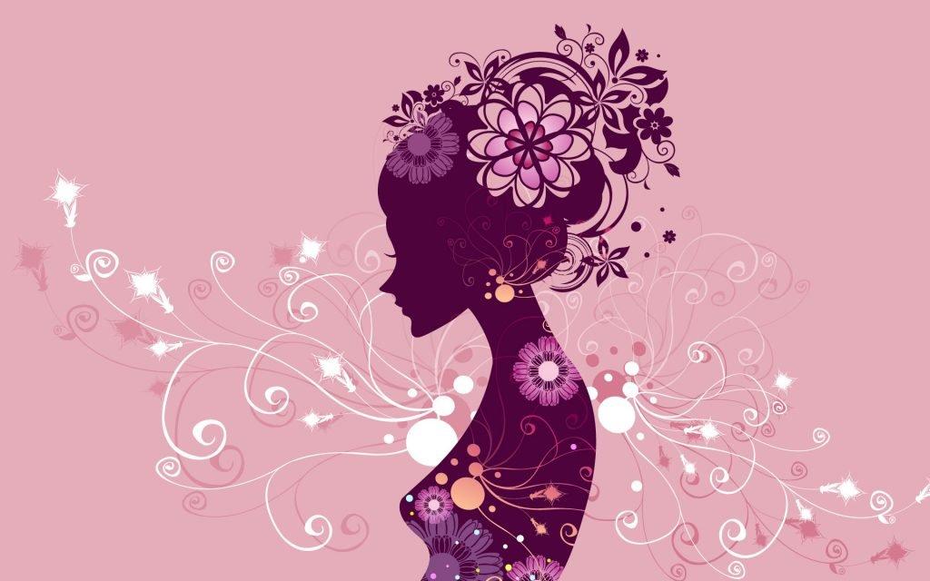 kadınlar çiçektir