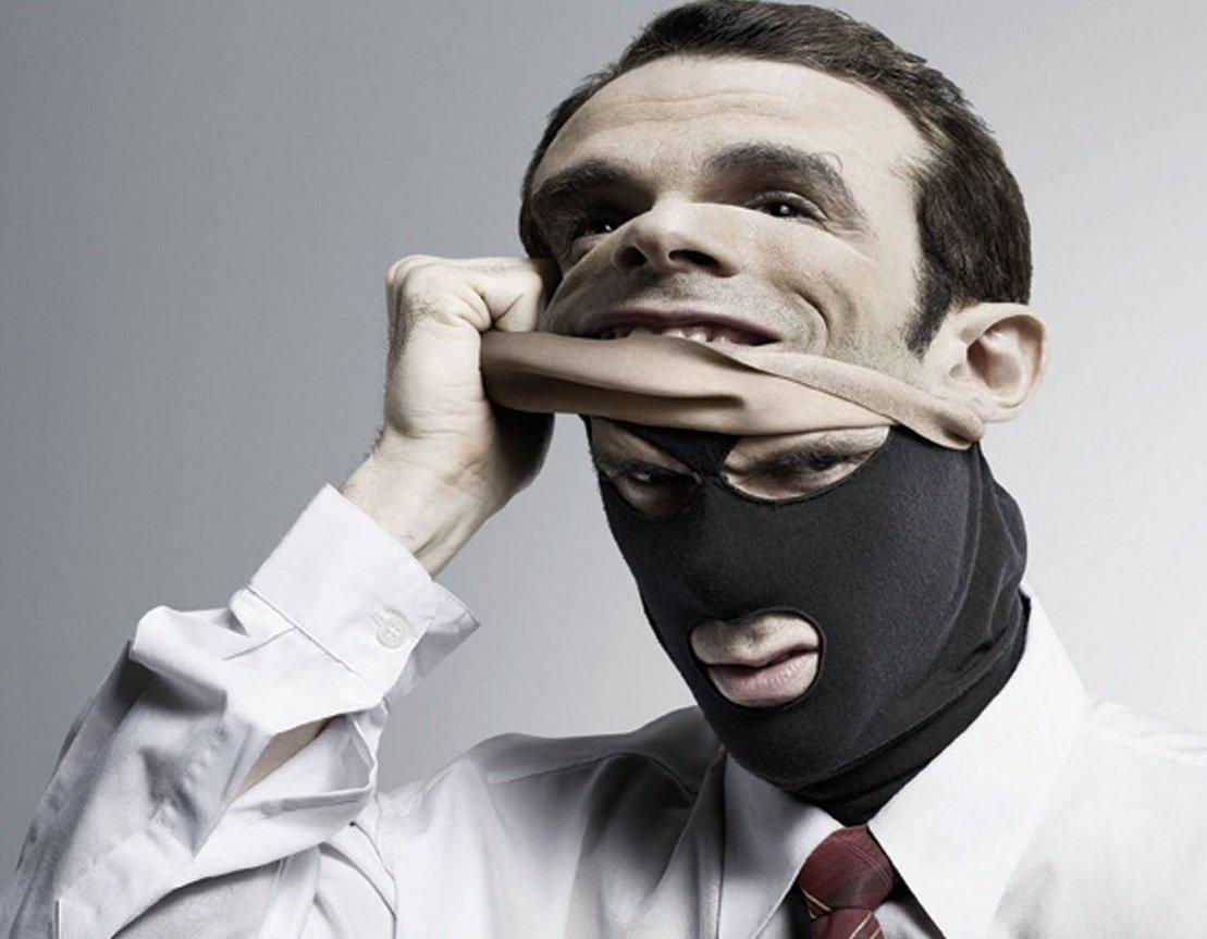 maske altında make