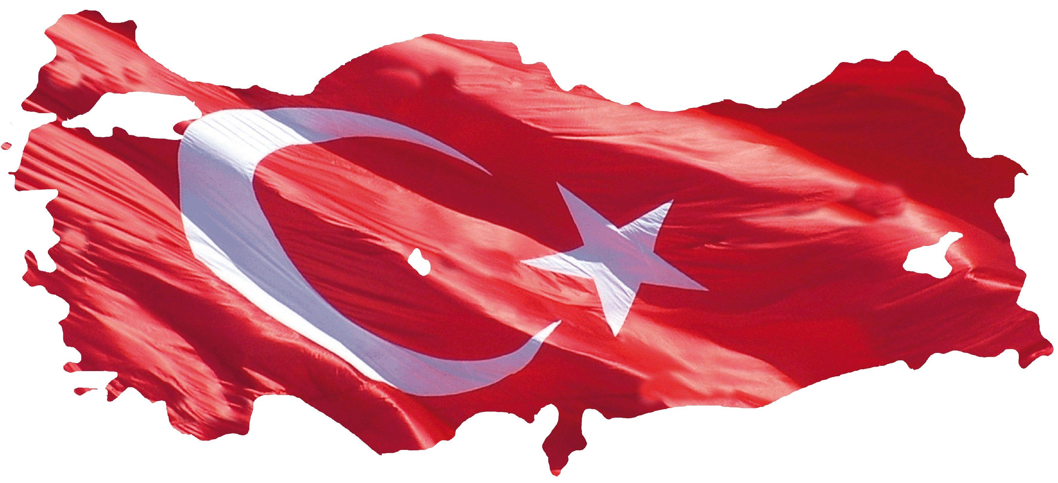 türkiye üzerinde dalgalanan türk bayrağı