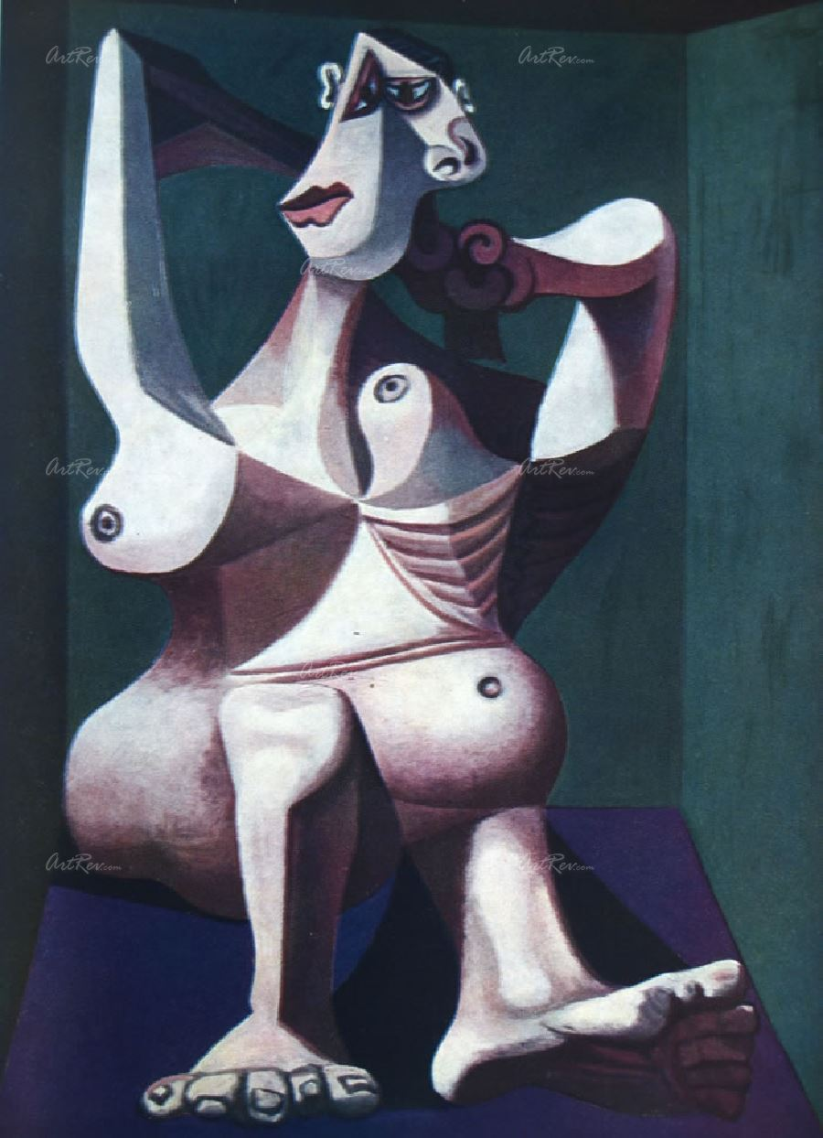 Saçını Tarayan Çıplak Kadın, Pablo Picasso