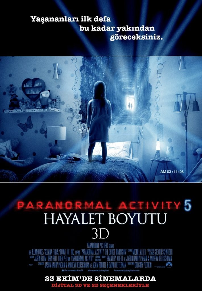 Paranormal Activity 5 Hayalet Boyutu poster
