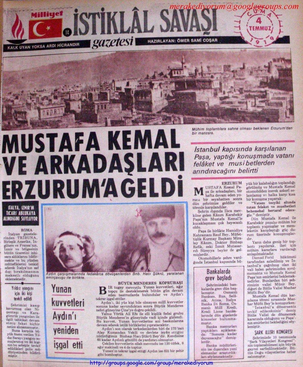 istiklal savaşı gazetesi - 4 temmuz 1919