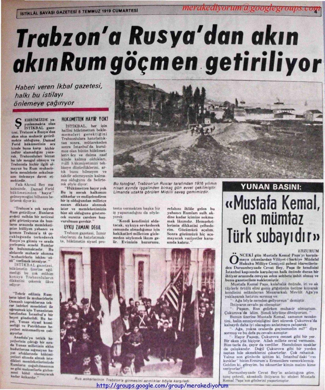 istiklal savaşı gazetesi - 5 temmuz 1919