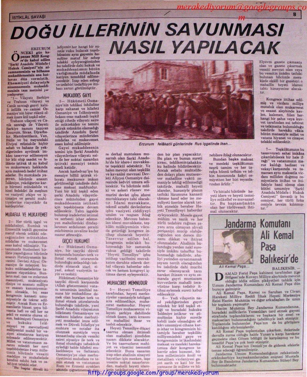 istiklal savaşı gazetesi - 9 ağustos 1919