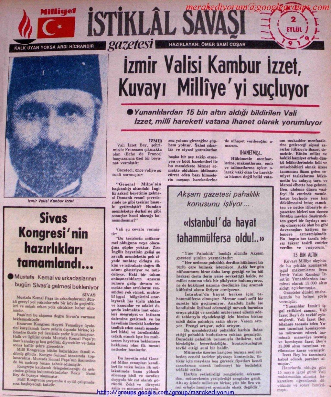 istiklal savaşı gazetesi - 2 eylül 1919