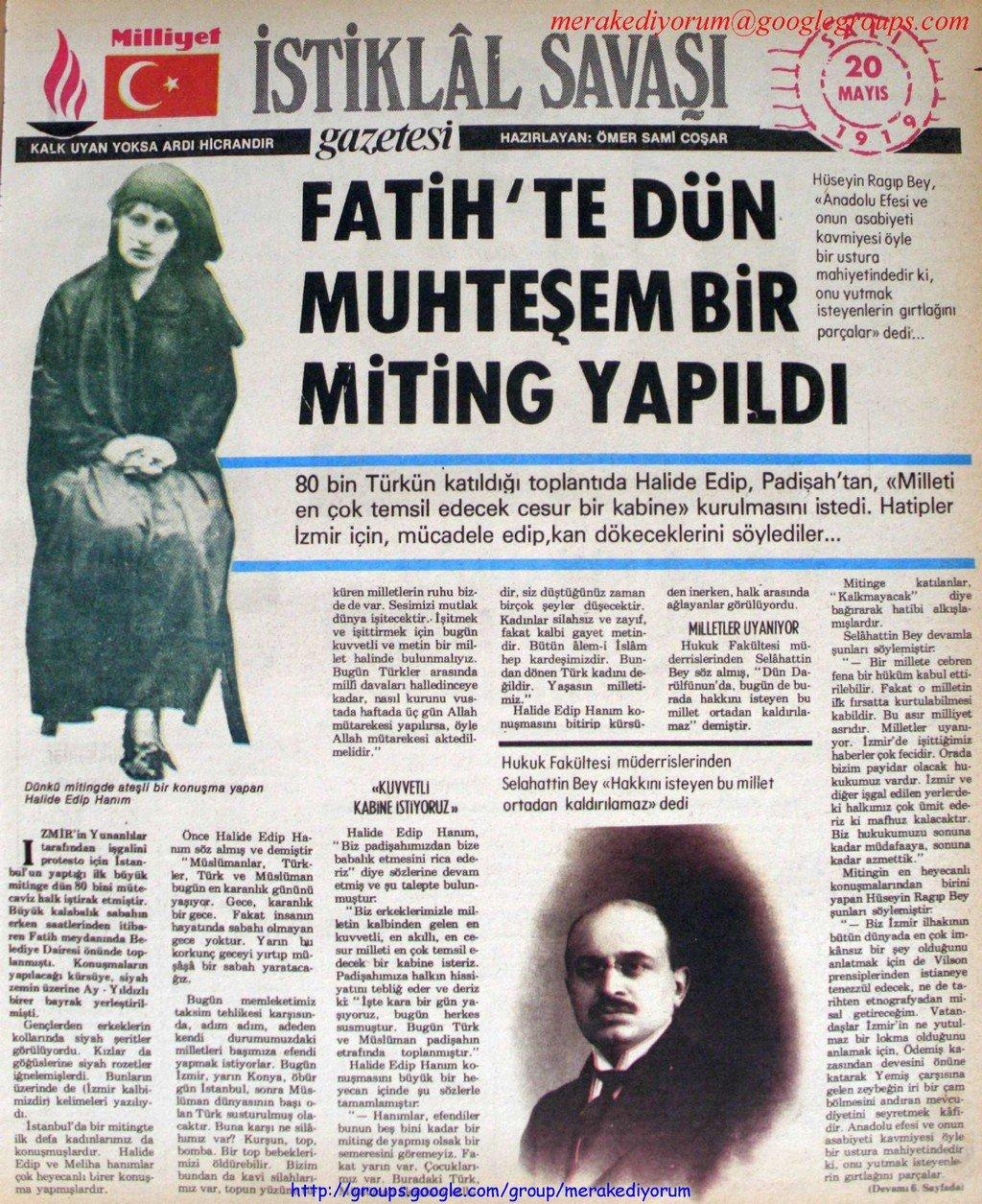 istiklal savaşı gazetesi - 20 mayıs 1919