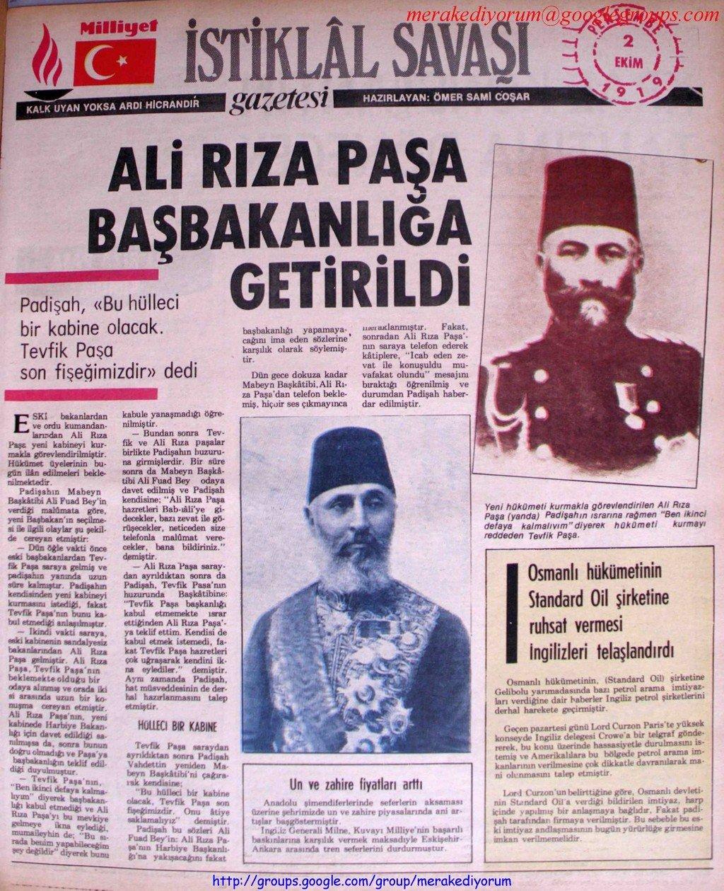 istiklal savaşı gazetesi - 2 ekim 1919