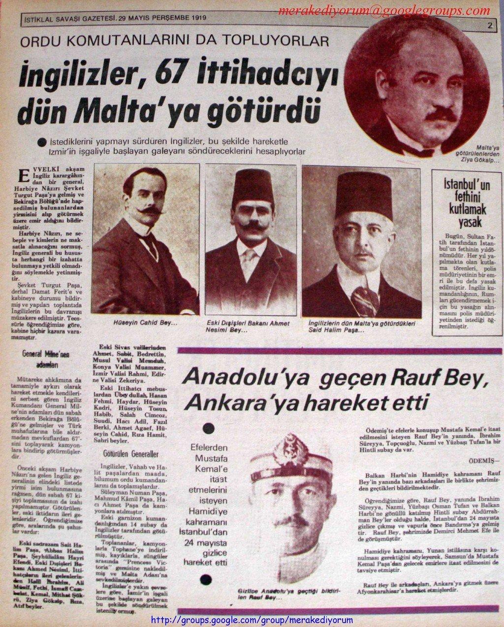 istiklal savaşı gazetesi - 29 mayıs 1919