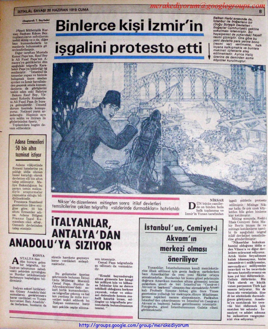 istiklal savaşı gazetesi - 20 haziran 1919